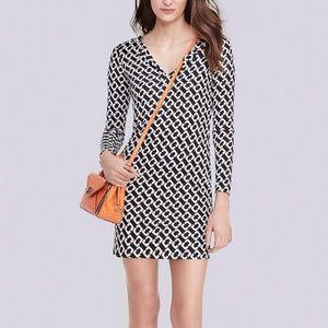 DVF Reina Long Sleeve Silk Jersey Dress  Sz 2